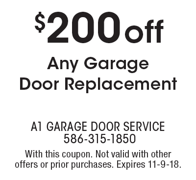 A1 Garage Door Service: $200 Off Any Garage Door Replacement. With This  Coupon.