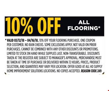 10% off all flooring