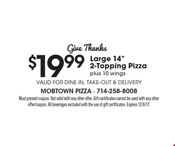 Give Thanks: $19.99 Large 14