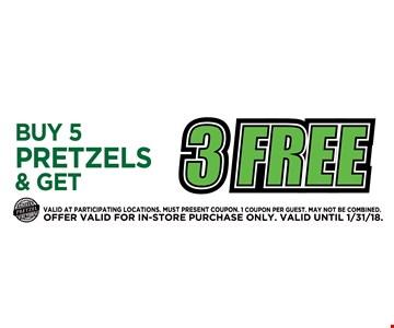 3 free pretzels