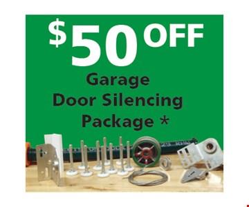$50 Off Garage Door Silencing Package