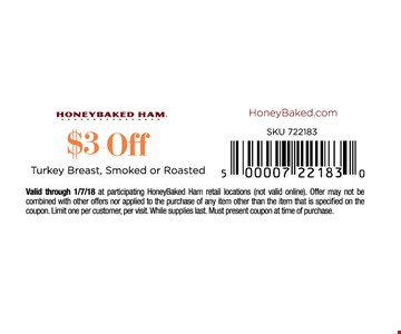 $3 off any turkey breast, smoked or roasted