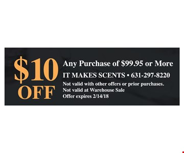 $10 off any purchase of $99.99 or more