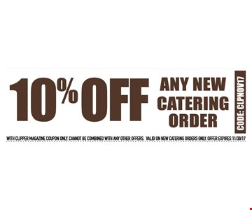 10% off any new catering order