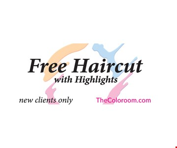 Free Haircut with Highlights. New clients only.