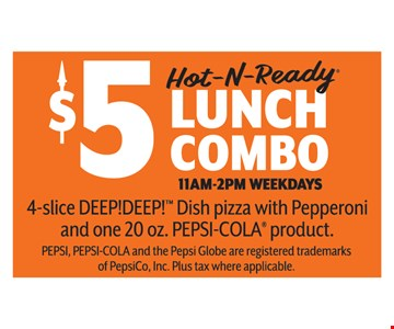 $5 Lunch Combo