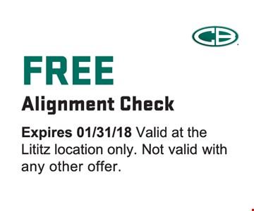 Free alignment check.