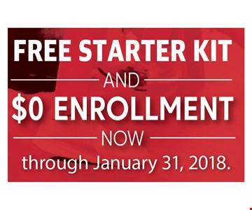 Free starter kit And $0 Enrollment