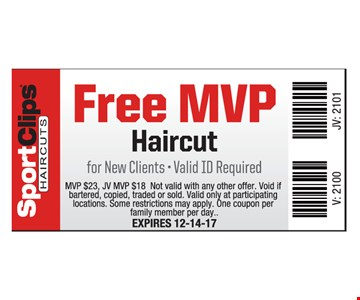 Free MVP Haircut for New Clients
