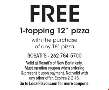 FREE 1-topping 12