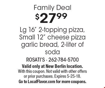 Family Deal $27.99 Lg 16