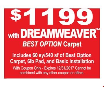 $1199 with Dreamweaver™ Best Option Carpet