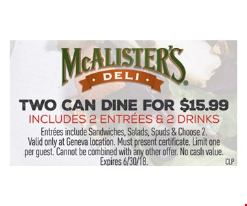 two can dine for $15.99