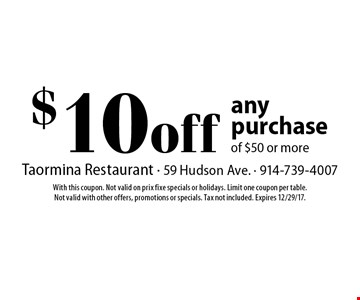 $10off any