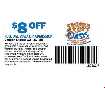 Not valid online or in conjunctions with group sale discounts or on events. Not valid on Twilight tickets. This coupon has no cash value and may not be redeemed with any other discount, promotion, or offer. Limit one coupon per customer. Discount cannot be applied to a previous purchase. Other restrictions may apply.