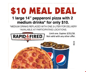 $10 meal deal
