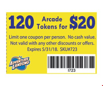 120 arcade tokens for $20.