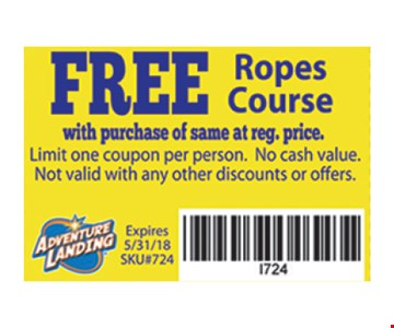 Free rope course with purchase.