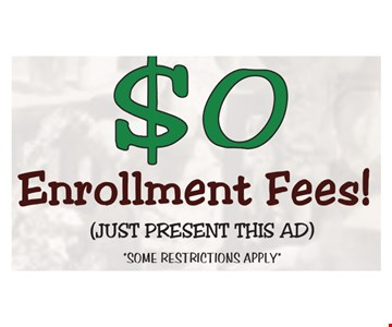 $0 Enrollment Fees