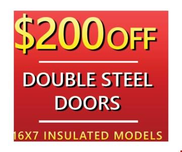 $200 off single steel doors