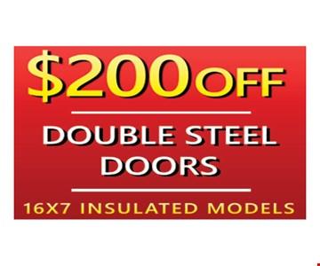 $200 Off Double Steel Doors
