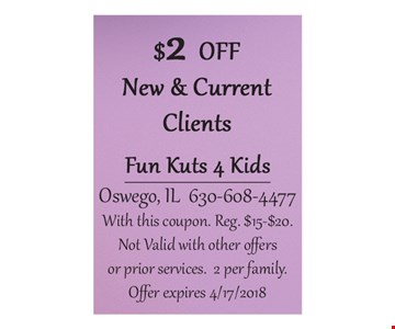 $2 off new & current clients