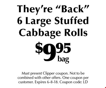 $9.95 bag They're