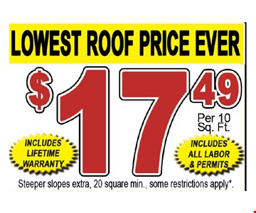 $17.49 steeper slopes extra, 20 square min., some restrictions apply.