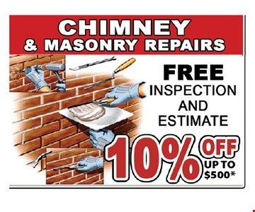 Free inspection and estimate 10% off up tp $500
