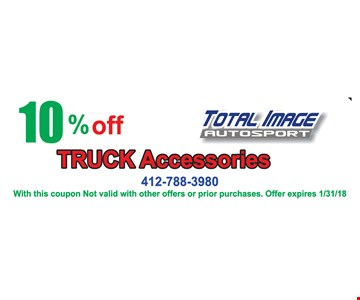 10% Off truck accessories