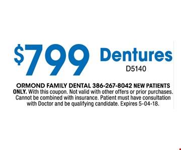 $799 Dentures