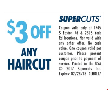 $3 OFF any Haircut