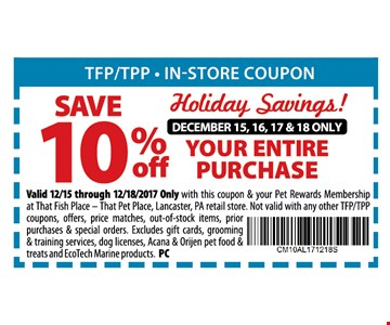 SAVE 10% OFF YOUR ENTIRE PURCHASE