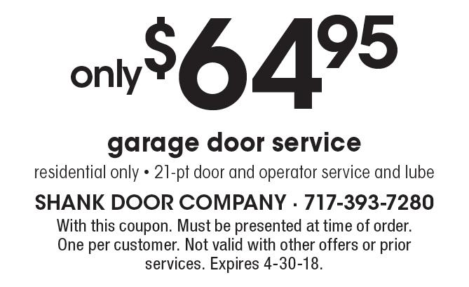 SHANK DOOR Only $64.95 Garage Door Service. Residential Only - 21-pt Door Sc 1 St Local Flavor  sc 1 st  pezcame.com & Shank Door Myerstown \u0026 Garage Door Spring Repair Ephrata PA