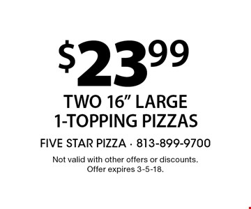$23.99 Two 16