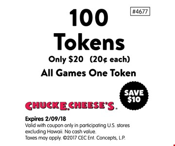 100 tokens only $20