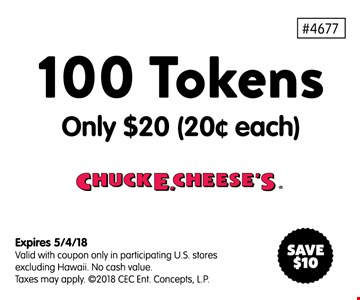 100 tokens for $20