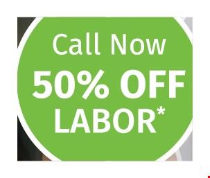50% Off Labor