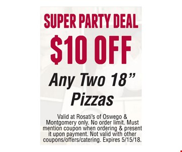 $10 off Super Party Deal