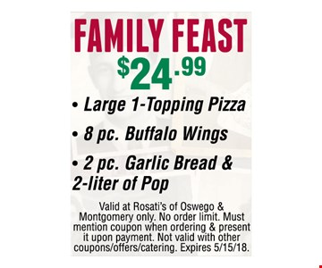 Family Feast for $24.99