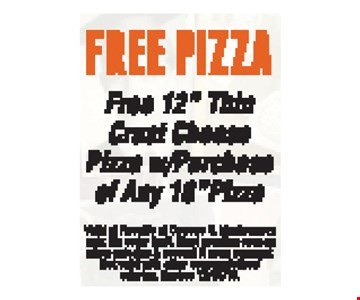 Free pizza Free 12