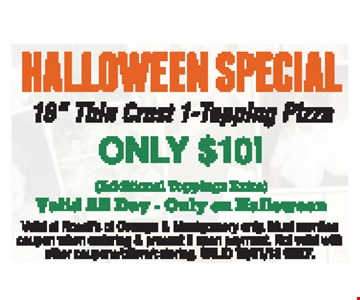 Halloween Special only $10. 16
