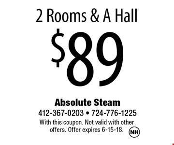 $892 Rooms & A Hall. With this coupon. Not valid with other offers. Offer expires 6-15-18.