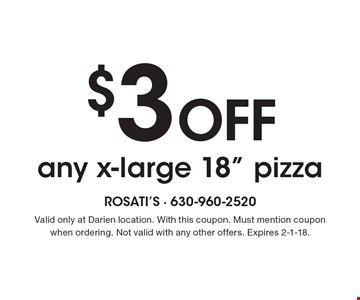 $3 Off any x-large 18