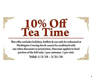 10% off Tea Time.