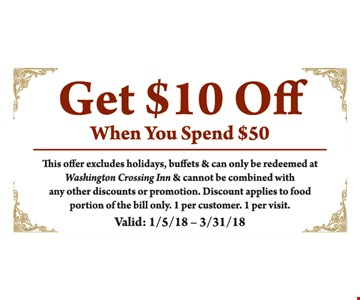 Get $10 off your $50 purchase.