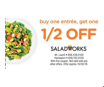 with this coupon. Not valid with any other offers. offer expires 10/30/18