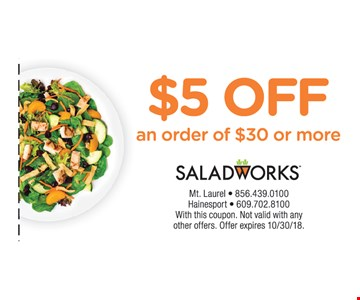 with this coupon. Not valid with any other offers.  Offer expires  10/30/18.