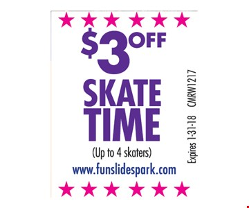 $3 Off Skate Time