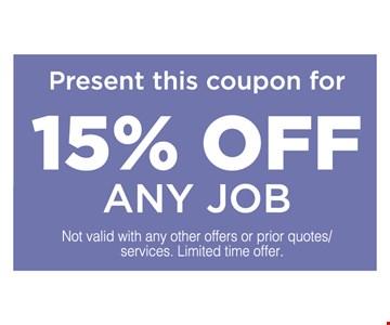 15% off any job